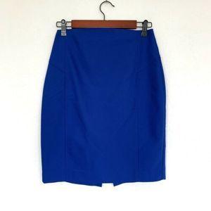 Express Blue High Rise Straight Pencil Skirt